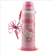 Retail 500ML Good Quality Cute Hello Kitty Children's Stainless Steel Vacuum Flasks Thermos Water Bottle