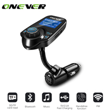 Car Kit MP3 Player Bluetooth Wireless FM Transmitter FM Modulator Car Kit HandsFree LCD Display USB Charger Support Micro TF Car