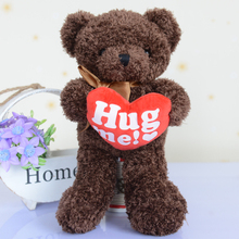lovely hold love bear 50 cm plush toy ,hug me teddy bear doll soft pillow ,Christmas gift dy66(China)