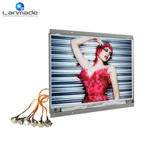 14 inch button control video led advertising screen display lcd(China)
