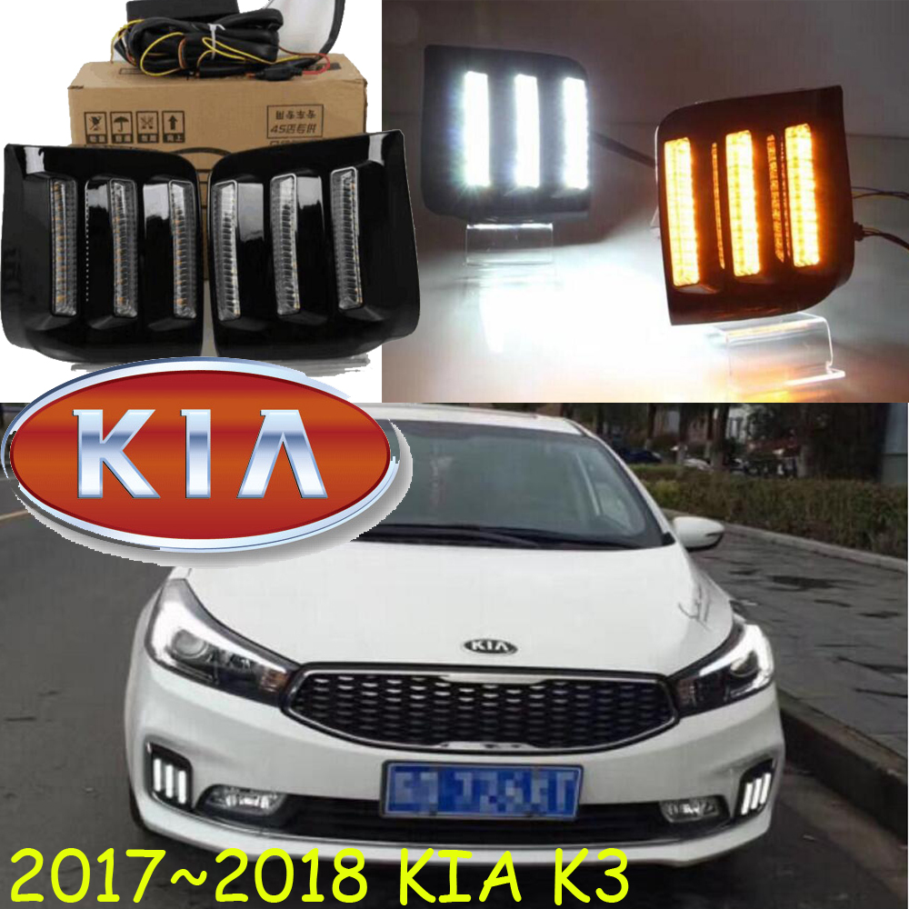 Car-styling,KlA K3 daytime light,2017 2018year,LED,Free ship!2pcs,car-detector, cerato fog light,car-covers,Forte day light<br>