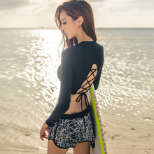 Rhyme Lady 2017 New Arrival Girls Women Long Sleeve Rashguards three pieces New Surfing Bathing Suits For Women(China)