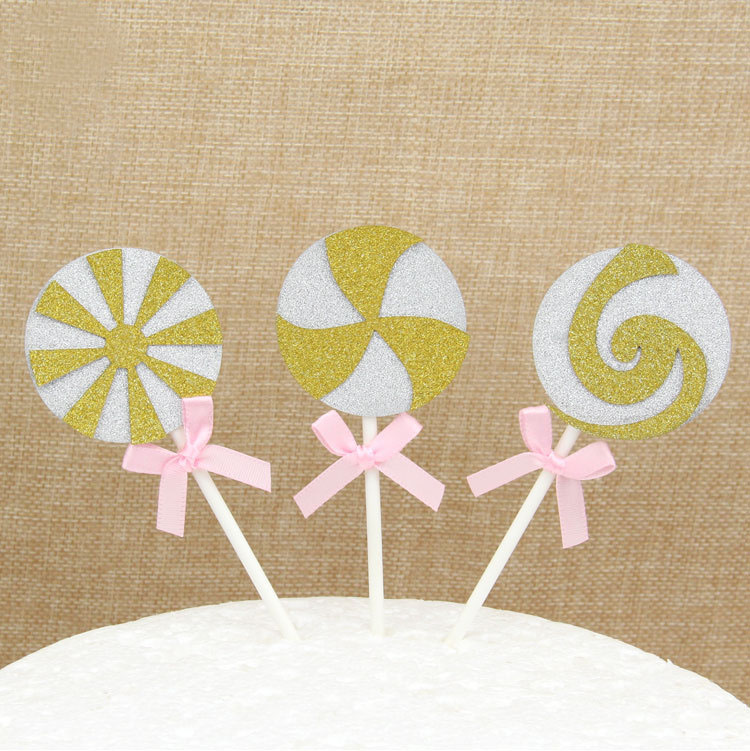 Cake Toppers Candy Happy Birthday Love Cake Topper Bride Cupake Flags Wedding Baby Shower DIY Decor Kids Party Valentine