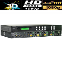 Professional 4K HDMI 4X4 HDBaseT Matrix Switcher 4 x HDMI Input and 4 x HDBaseT, 2 x HDMI Out+de-embedded audio IR RS232