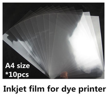 100% transparent inkjet film A4 size inkjet film with adhesive for Logo design printing(10 sheets one lot)(China)
