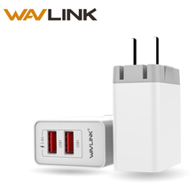 Wavlink Original 12.5W 2.4A USB Wall Charger 2 Ports Quick Charge USB 3.0 Travel Charger Fold able Plug for IPhone iPad Samsung