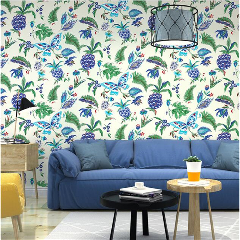 Beibehang Modern high quality 3D wallpaper butterfly southeast asian style bedroom living room tv sofa background 3D wallpaper<br>