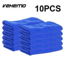 10pcs Ultra Soft Microfiber Auto Car Body Window Cleaning Towel Cloth Wipe Cleanse Home Clean Rag Blue Vehemo
