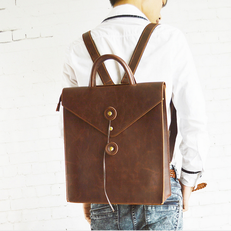New Design Leather Men Backpacks Fashion Backpacks for Teenage Girls Casual Laptop Solid Men School Bags Men and women bags<br><br>Aliexpress