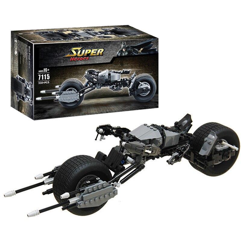 2017 New 338pcs 7115 Batman motorcycle BAT-POD Toy building blocks super heroes series gift hot saleCompatible Legoe 5004590<br><br>Aliexpress