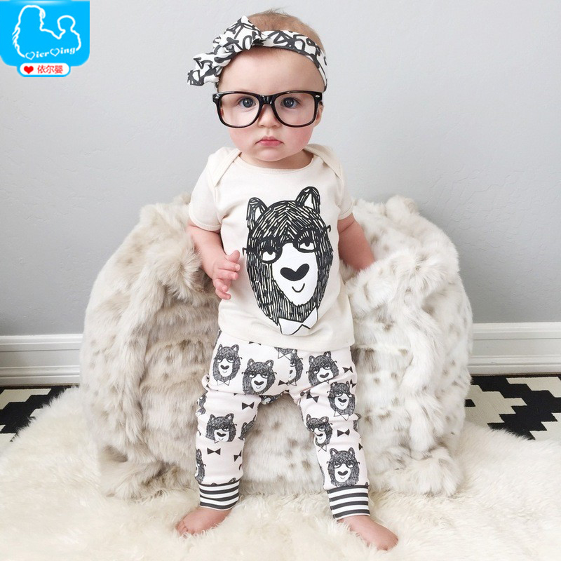 2017 Summer New Born Baby Girls Clothing Set Little Monsters Baby Boy Clothes T-shirt Top+Pants 2 pcs Newborn Baby Clothes Set <br><br>Aliexpress