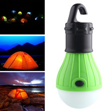 New Arrive Green Camping Light Portable LED Camping Lantern Light Lamp Outdoor Hanging Portable Lanterns Use 3*AAA Batteries(China)