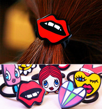 2pcs/lot Hot fashion hair accessories flower bady headband hairpin rubber band barrette clips girls fascinator gum ties elastic