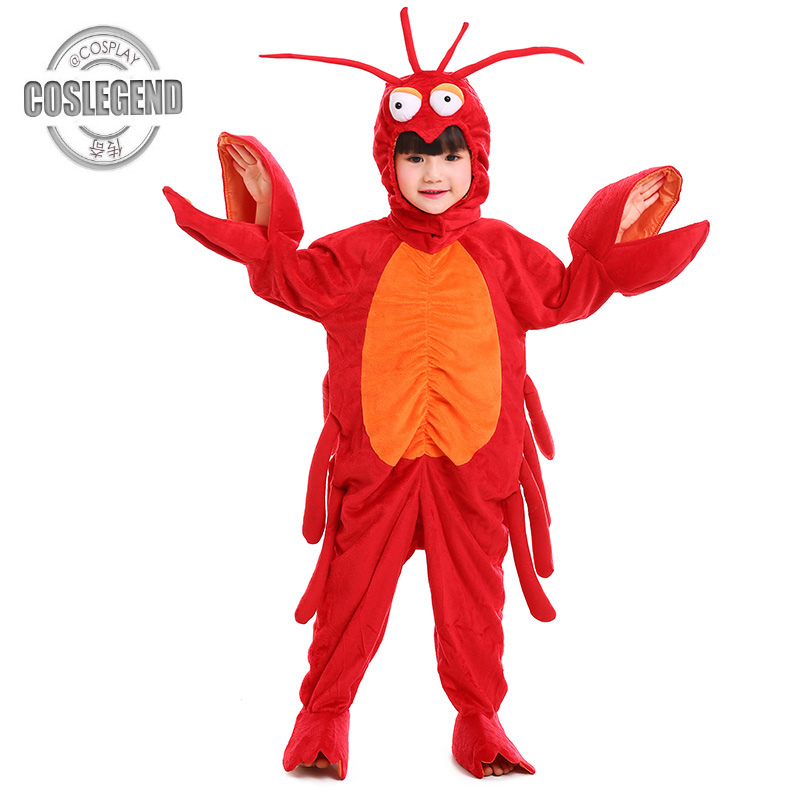 Kids Lobster Halloween Costume Child Cosplay Marine Animal Costumes Boys and Girls Halloween Party Costume