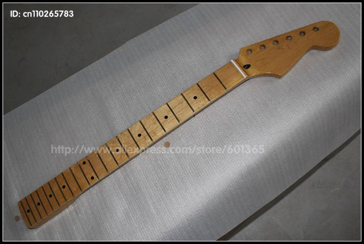 21 Frets Retro Canadian Maple Electric guitar Neck electric guitar kit kits Maple fingerboard Y023<br>