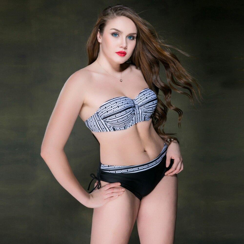 2017 Women bikini set swimsuit sexy striped push up mid waist bikinis swimwear plus large size cupshe biquini bathing suit 7733<br><br>Aliexpress