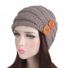 e504818a770 Women Ladies Cap Winter Warm Crochet Knitting Hat Turban Brim Pile Beanie  new sale Female Hat