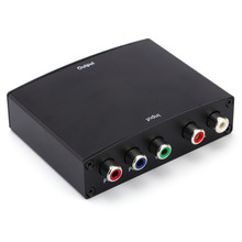 Component YPbPr video + R/L audio Adapter Converter HD TV to HDMI 1080P WP For HD TV RGB