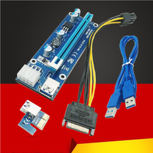 8Pin Power Supply PCI Express Riser Card PCIe PCI-E 1x to 16x USB 3.0 Data Cable SATA to 8Pin Power for BTC Miner Machine Mining