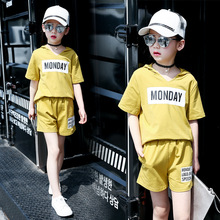 Children's Children's Garment Children Suit 2017 New Product Girl Summer Short Sleeve Shorts Child 2 Pieces Kids Clothing Sets(China)