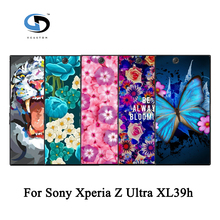 Colorful Brilliant Rose Peony Beautiful Flower Floral Drawing Hard Plastic Case For Sony Xperia Z Ultra XL39h Skin Back Cover