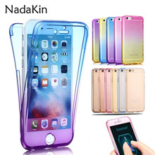 Buy 360 Degree Gradient Color Full Body Front Back Soft Clear TPU Silicone Case Cover iPhone 5 5S SE 5SE 6 6S 7 8 Plus X Fundas for $1.48 in AliExpress store
