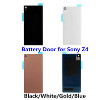 1PCS NEW Back Glass Cover for Sony Xperia Z3+ Z4 E6533 E6553 Battery Door Back Rear Housing Cover Case Replacement Part