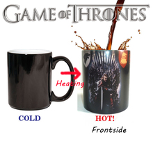 Discoloration Cups Game of Thrones Mugs HEAR ROAR Coffee Color Change Mugs Originality Novelty Surprised Gifts Fans Favourite(China)