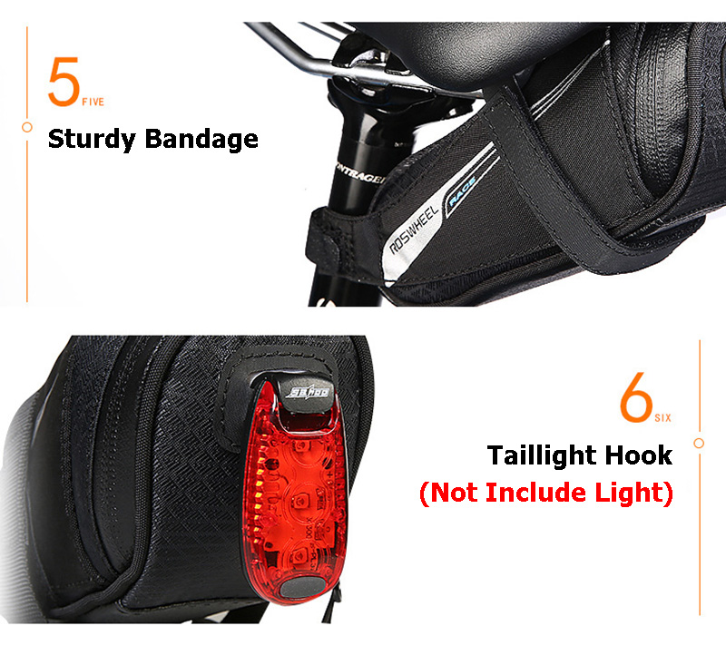 Bicycle Saddle Bag Tear Resistant Rainproof Cycling Rear Seat Bags MTB Road Bike Tail Repair Tools Pouch Bike Accessories BG0090 (4)