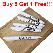 6pcs/lot, White Liquid Chalk Pen, for Kids Room Wall Stickers and Blackboard, Removable Vinyl Wall Decal