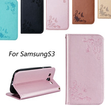 For Galaxy S3 Mini Luxury Business Women/Men Card Slot Wallet Holster Leather Cellular Case Cover For I9300 Galaxy SIII Fundas