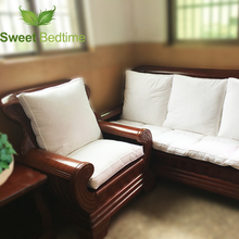 custom made duck down feather sofa cushion inserts back cushion inner seat floor mat bay window tatami mat 55 couch pillows core(China)