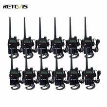12pcs Walkie Talkie Retevis RT-5R 5W VHF UHF Dual Band Dual Display DTMF VOX CB Radio Transceiver Portable Walk Talk In Moscow