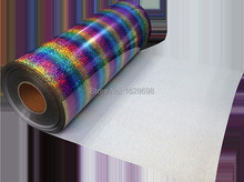 speacial color CDH-20 stripe multi Rainbow heat transfer film for clothes or garment hologram material