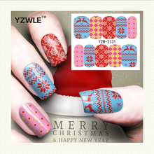 YZWLE 1 Sheet Christmas Design DIY Decals Nails Art Water Transfer Printing Stickers Accessories For Manicure Salon (YZW-2131)