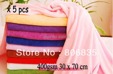 400gsm 30 x 70cm ultra absorption microfiber cleaning towel,car washing/polishing towel,microfiber cleaning cloth manufacturer(China)