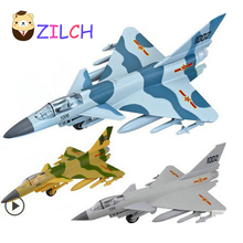 J-10 Fighter Aircraft High imitation transport alloy model pull back Sound and Light toy for children Collection