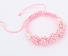 New arrival! RFCV    hot  micro pave CZ Disco RESIN Crystal Shamballa Bracelet fasion Gift  FOR KIDS jewelry Discount.