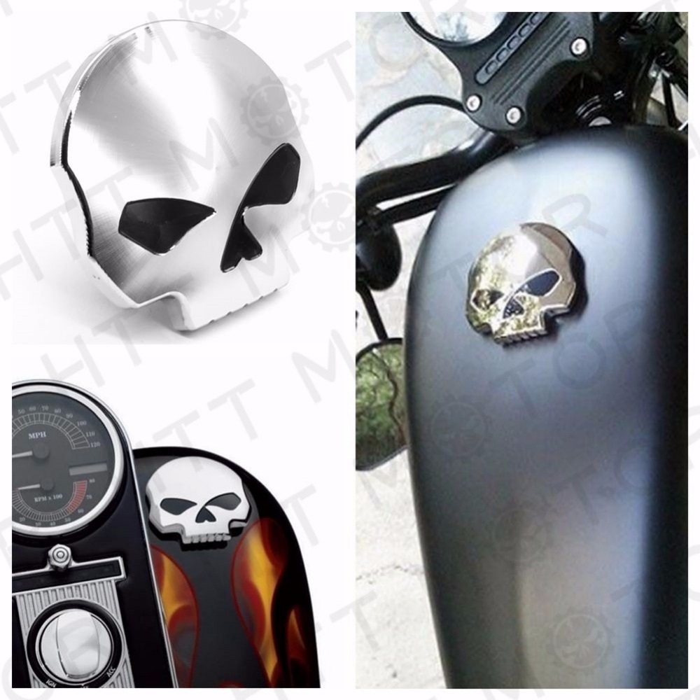 Aftermarket free shipping motorcycle parts Chrome Skull Gas Cap Vented Fuel Cap for Harley XL &amp; Big Twin Gas Tank Cap 84-15<br>
