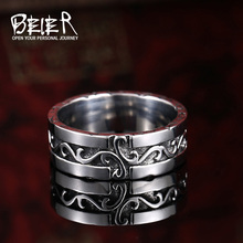 Beier new store 316L Stainless Steel Simple Ring Wholesale  top quality  men ring fashion jewelry  BR8-297