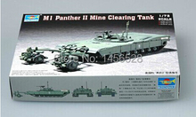 TRUMPETER 07280 1/72 M1 Panther II Mine clearing Tank Assembly Model kits scale model 3D puzzle vehicle model(China)