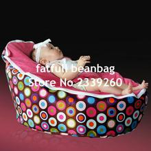 COVER ONLY, NO FILLINGS - decent disco jelly baby bean bag chair, pink bubbles kids sleeping portable pods(China)
