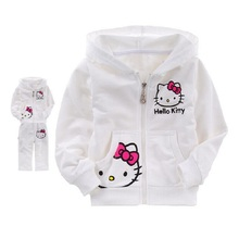New Autumn Baby Kids Set Cotton Hello Kitty Coat Hoodies Pants Twinset Bebes Bebek Giyim Children Clothes Girl Boy Sets  Menino