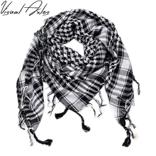 [Visual Axles] 100% Cotton Arab Keffiyeh Shemagh Scarf Military Tactical Scarves Thickened Hijab Square Windproof Bandana