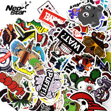 100Pcs/Lots Mixed Vinyl Stickers For Tablet Laptop Moto Car Suitcase Waterproof Mobile Phone Stickers Decoration Decals(China)