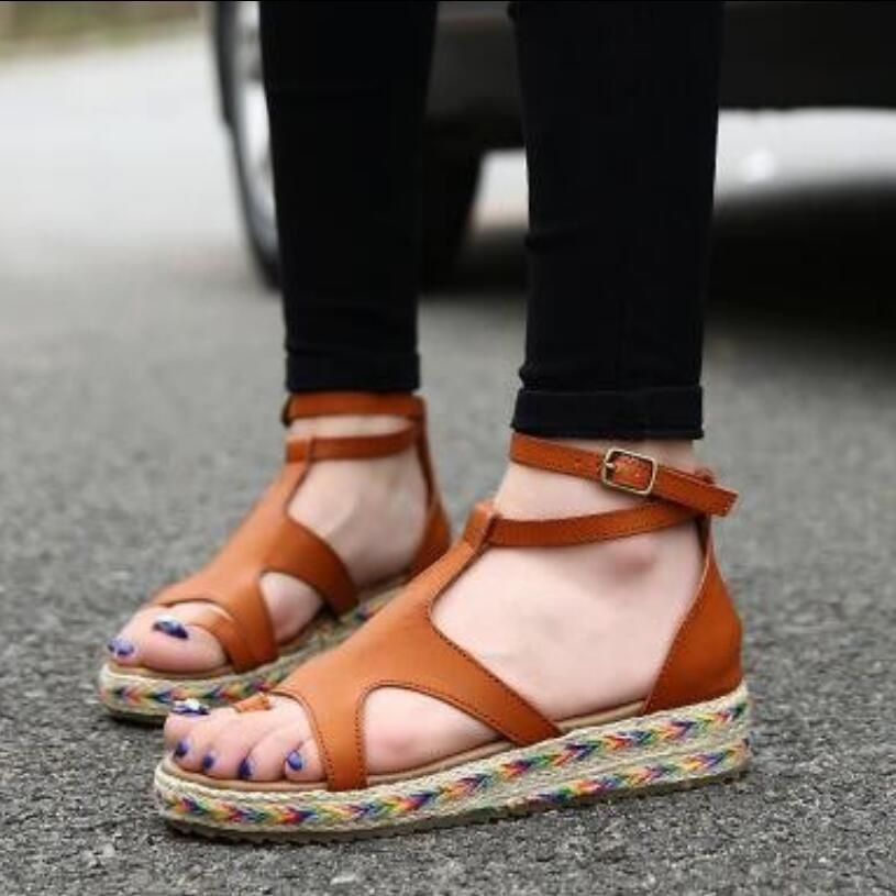 {D&amp;H}Brand Shoes Woman Plus Size35-43 2017 NEW LOOK Gladiator Sandals Summer Flat Sandals Boots Women Shoes Gift Socks<br><br>Aliexpress