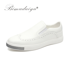 Buy BIMUDUIYU Brand High Leather Casual White Shoes Mens Brogue Style Shoes Top New Fashion Breathable Lazy Shoes for $36.00 in AliExpress store