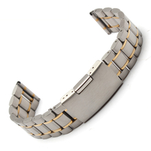 18mm 19mm 20mm 21mm 22mm 24mm 26mm silver and gold  new men metal band watch stainless steel bracelets straight  end