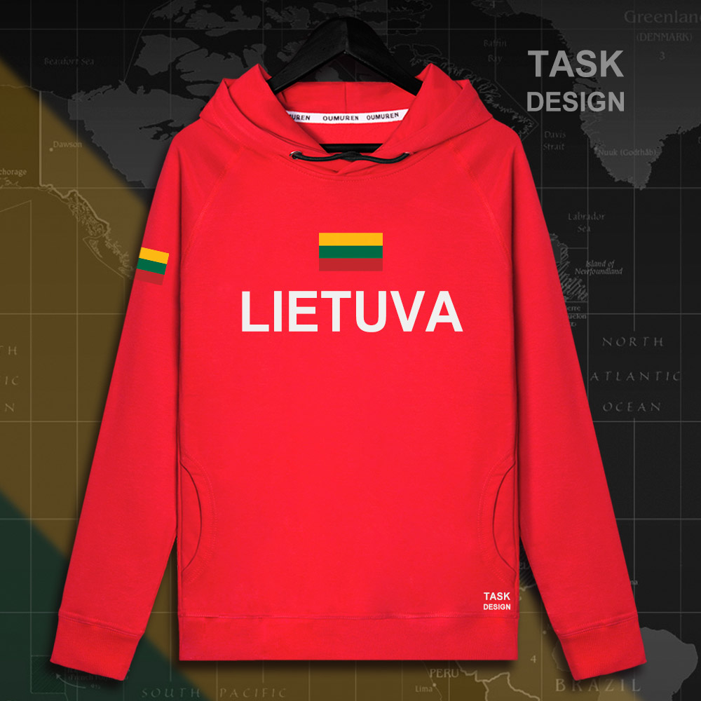 Lithuania Lithuanian LTU Lietuva Lietuvos men hoodie pullovers hoodies men sweatshirt new streetwear clothing Sportswear tracks 18