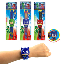6 Kinds Cartoon PJ Masks Party Watch Characters Catboy Owlette Gekko Cloak Masks Action Figure Toys Vinyl Doll Girls Toy